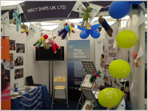 Mercy Ships go to the boat show