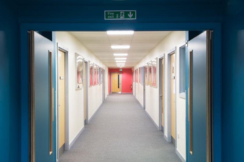 Fire doors in schools
