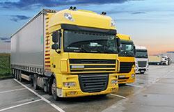 Lorries in Yard
