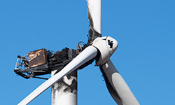Wind Turbine Fire