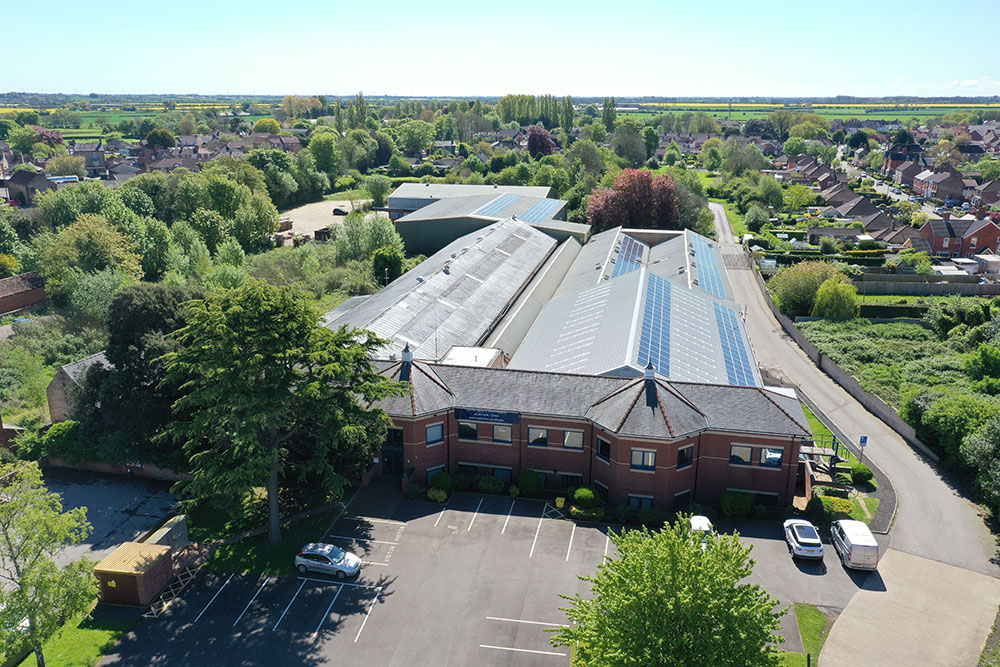 solar panels on the office roof generate 80% of our total energy usage