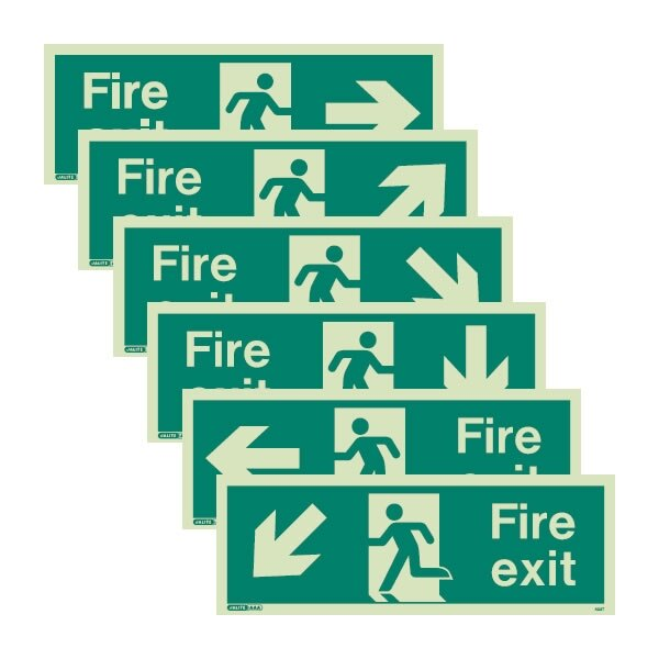 Jalite photoluminescent fire exit signs
