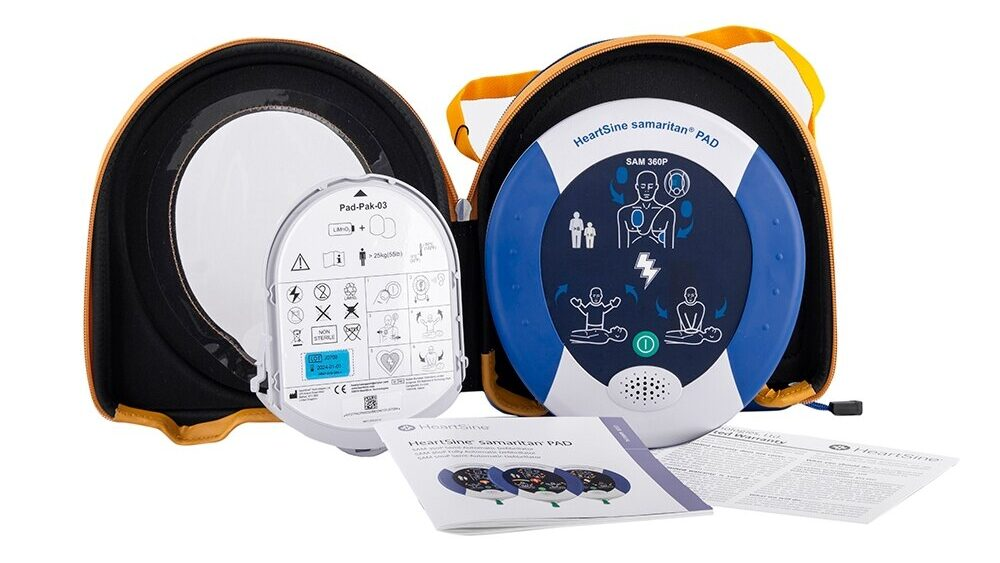 Heartsine 360P defibrillator for sports clubs and events