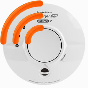 Image of the Mains Powered Wi-Safe 2 Thermoptek Smoke Alarm