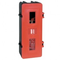 Single rotationally moulded fire extinguisher cabinet