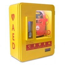 Loud 120dB warning alarm sounds when the cabinet is opened