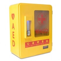 The cabinet is used to allow AEDs to be installed outside
