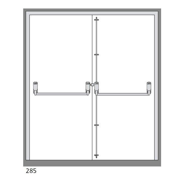 Exidor 285 Double Door Panic Bar Set With Latch & Bolt