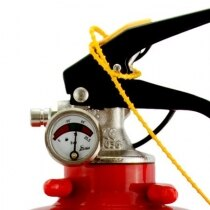Safelincs 2kg Powder Fire Extinguisher pressure gauge and head unit
