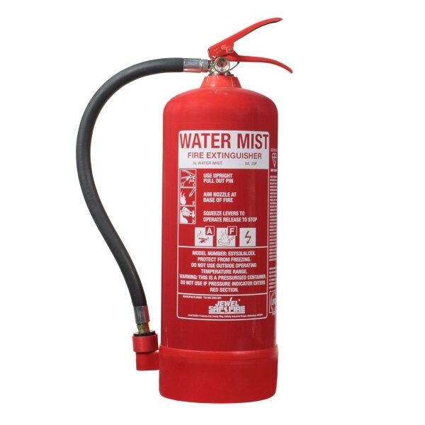 3ltr Water Mist Fire Extinguisher - E-Series