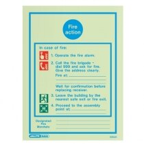 Fire Action Sign - 13