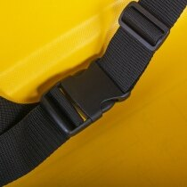 Waist strap and buckle to secure passenger
