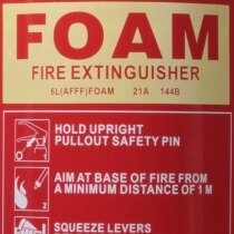 UltraFire Redline 6ltr AFFF Foam Fire Extinguisher ratings