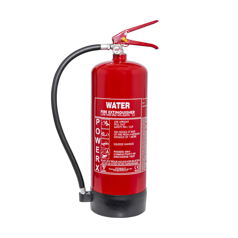 PowerX 6ltr Water Additive Fire Extinguisher