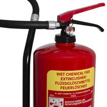 Stored pressure fire extinguisher