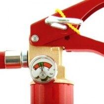 Safelincs 6kg Powder Fire Extinguisher head unit including pressure gauge