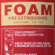 UltraFire Redline 9ltr AFFF Foam Fire Extinguisher ratings
