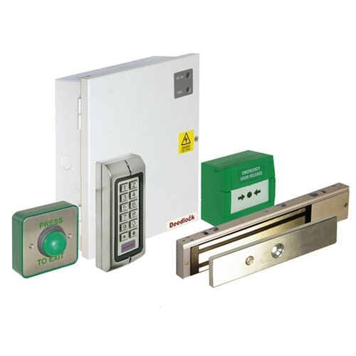Access Control Maglock Kit With Push Button Keypad And