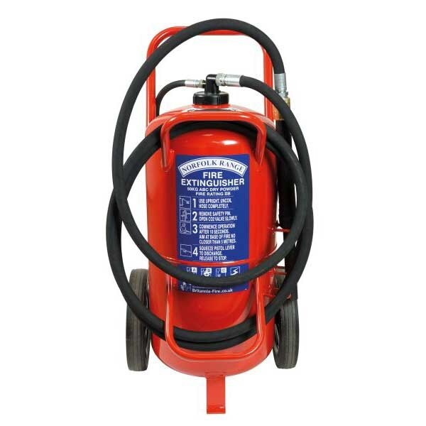 Britannia 50kg Wheeled ABC Powder Extinguisher