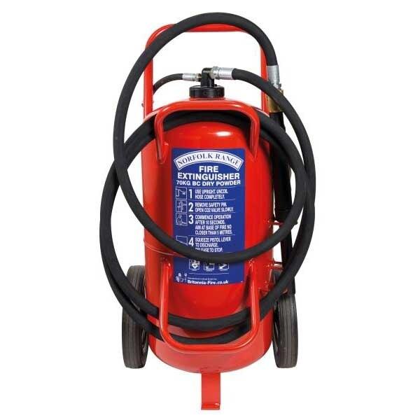 Britannia 70kg Wheeled BC Powder Extinguisher