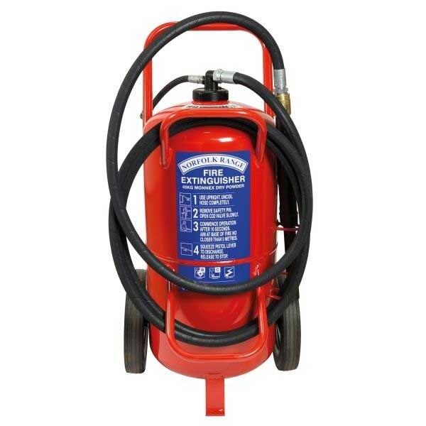 Britannia 45kg Wheeled Monnex Powder Extinguisher