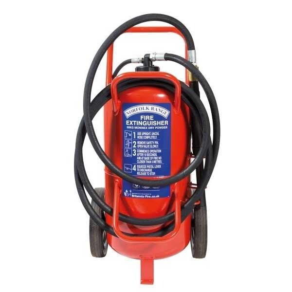 Britannia 50kg Wheeled Monnex Powder Extinguisher