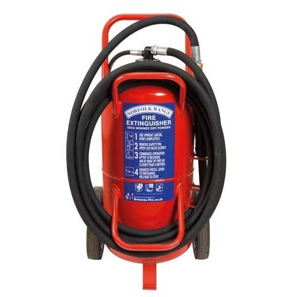Britannia 63kg Wheeled Monnex Powder Extinguisher