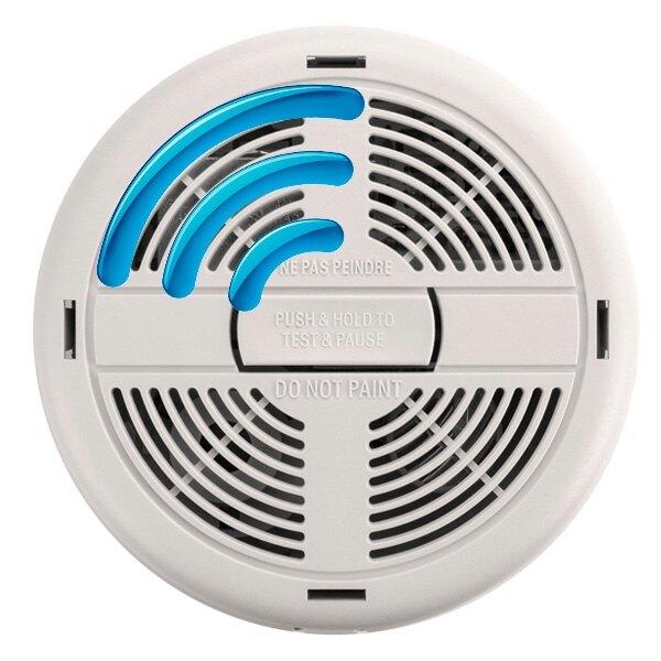 mains powered radio interlinked ionisation smoke alarm with alkaline back up battery brk 670rf. Black Bedroom Furniture Sets. Home Design Ideas