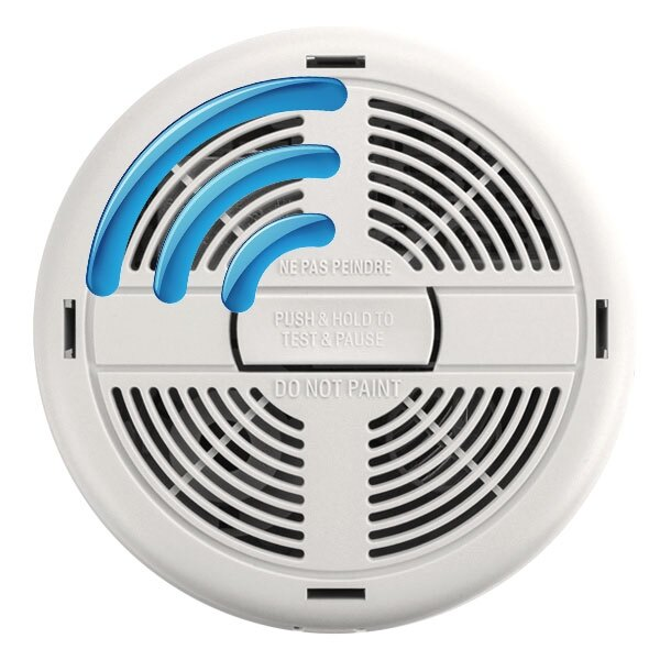 BRK Mains Powered Radio-Interlinked Smoke and Heat Alarms with Alkaline Back-up Battery - 600RF Series