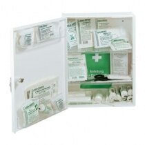 The Leina Cura first aid cabinet has adjustable shelves and two door trays