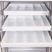 Roll out storage trays