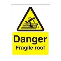 Warning and Danger Signs - Danger, Fragile Roof