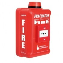 Evacuator Defender alarms with call point and strobe