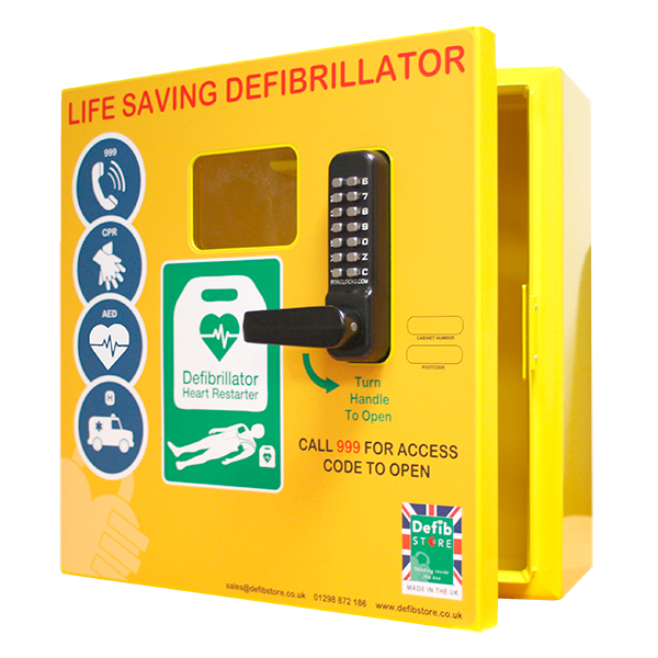 1000 model - outdoor heated defibrillator cabinet with code lock