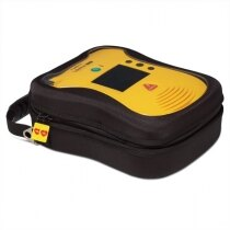 Clear front panel allows the defibrillator to be easily seen and identified