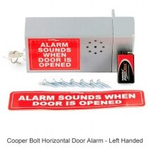 Cooper Bolt Horizontal Door Alarm - left handed version
