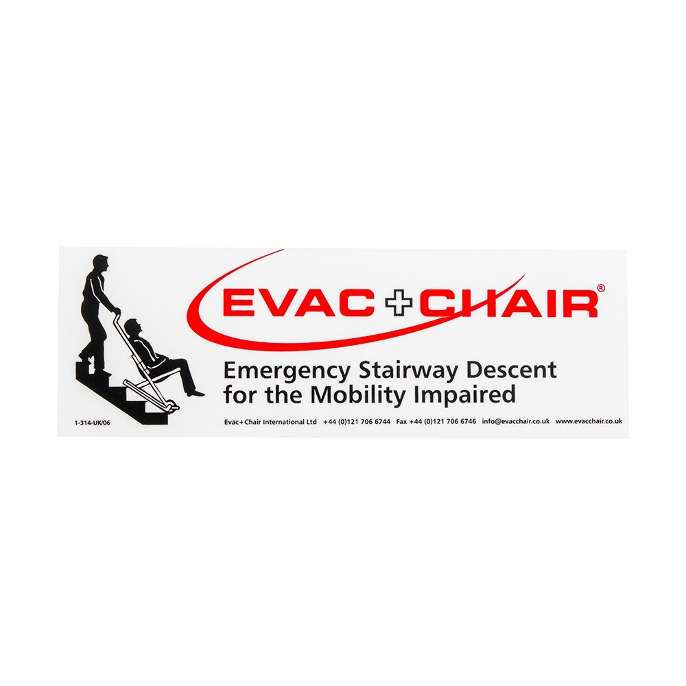 Evac+Chair photoluminescent signs assist in locating evacuation chairs
