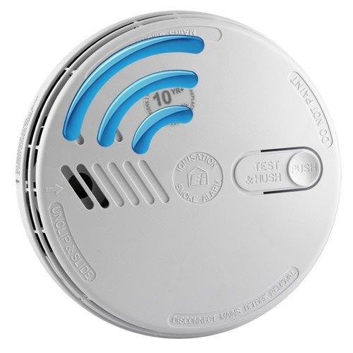 Mains 230V Ionisation Smoke Alarm with Lithium Back-up Battery - Ei161RF