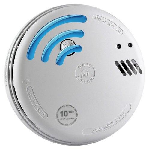 230v radio interlinked optical smoke alarm w backup ebay. Black Bedroom Furniture Sets. Home Design Ideas