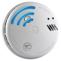 Mains 230V Optical Smoke Alarm with Lithium Back-up Battery - Ei166RF