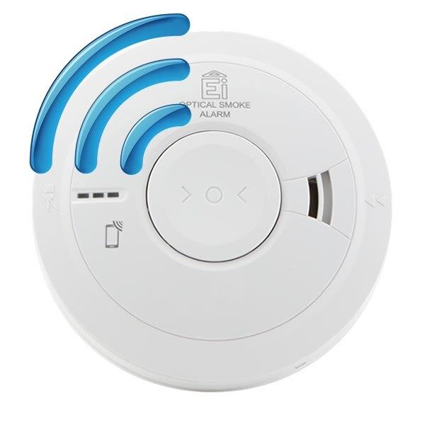 Mains Radio-Interlinked Optical Smoke Alarm with Back-up - Ei3016RF