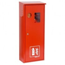 5kg CO2 metal fire extinguisher cabinet with key lock and integral keybox