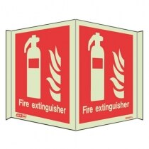 Panoramic Photoluminescent Fire Fighting Equipment Signs