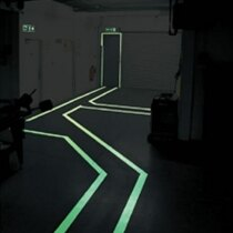 Heavy duty floor paint in use on escape routes in the dark