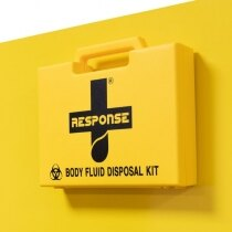 Body Fluid Disposal Kit on Yellow Stand