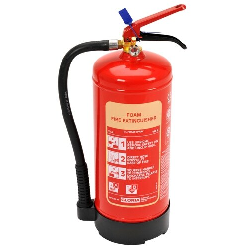 6ltr Foam Fire Extinguisher - Gloria S6DLWB