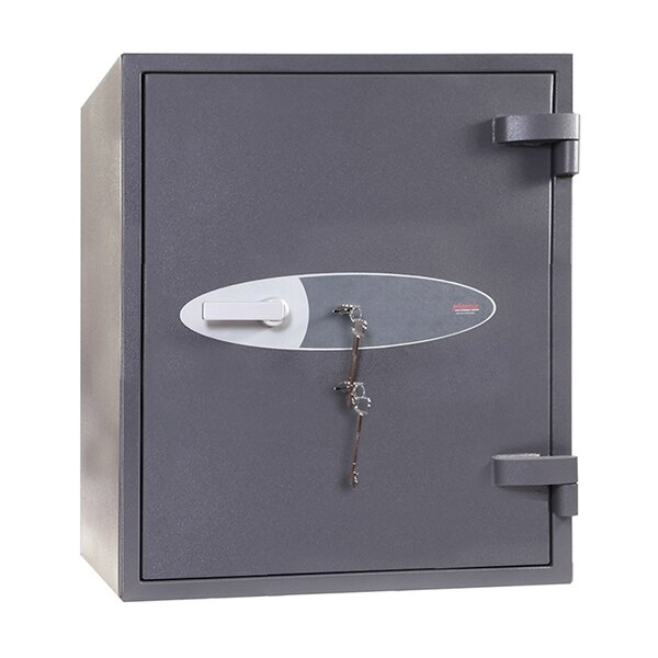 Fitted with two double bitted high security key locks as standard
