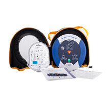 Provides CPR and compression feedback to assist rescuers