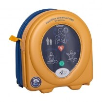 Bright carry case helps rescuers locate the AED quickly in an emergency