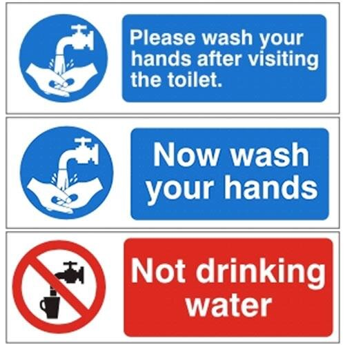 Mandatory Bathroom Hygiene Signs